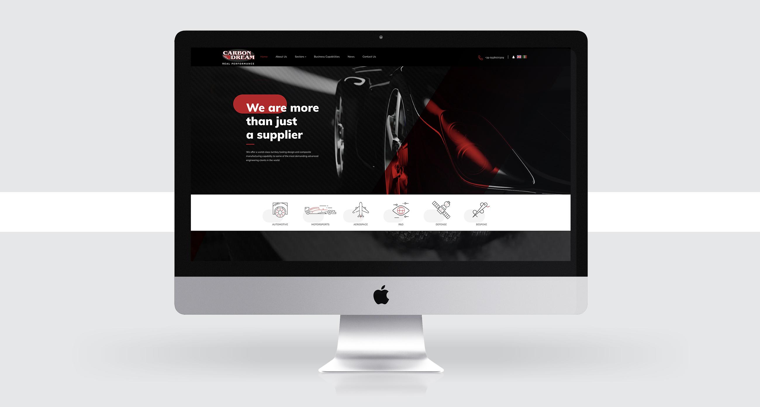 Carbon Dream design sito web