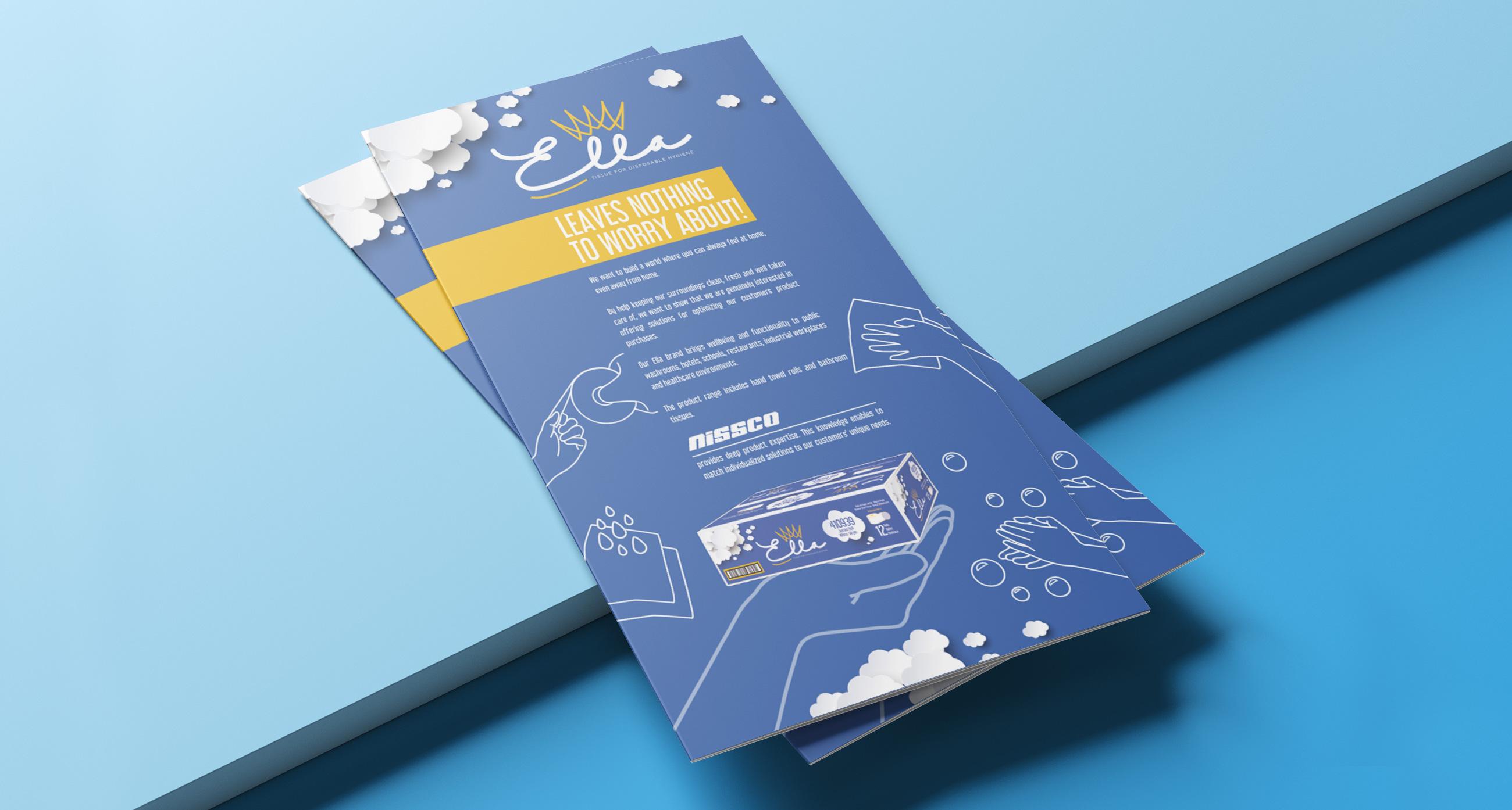 Nissco design flyer prodotto