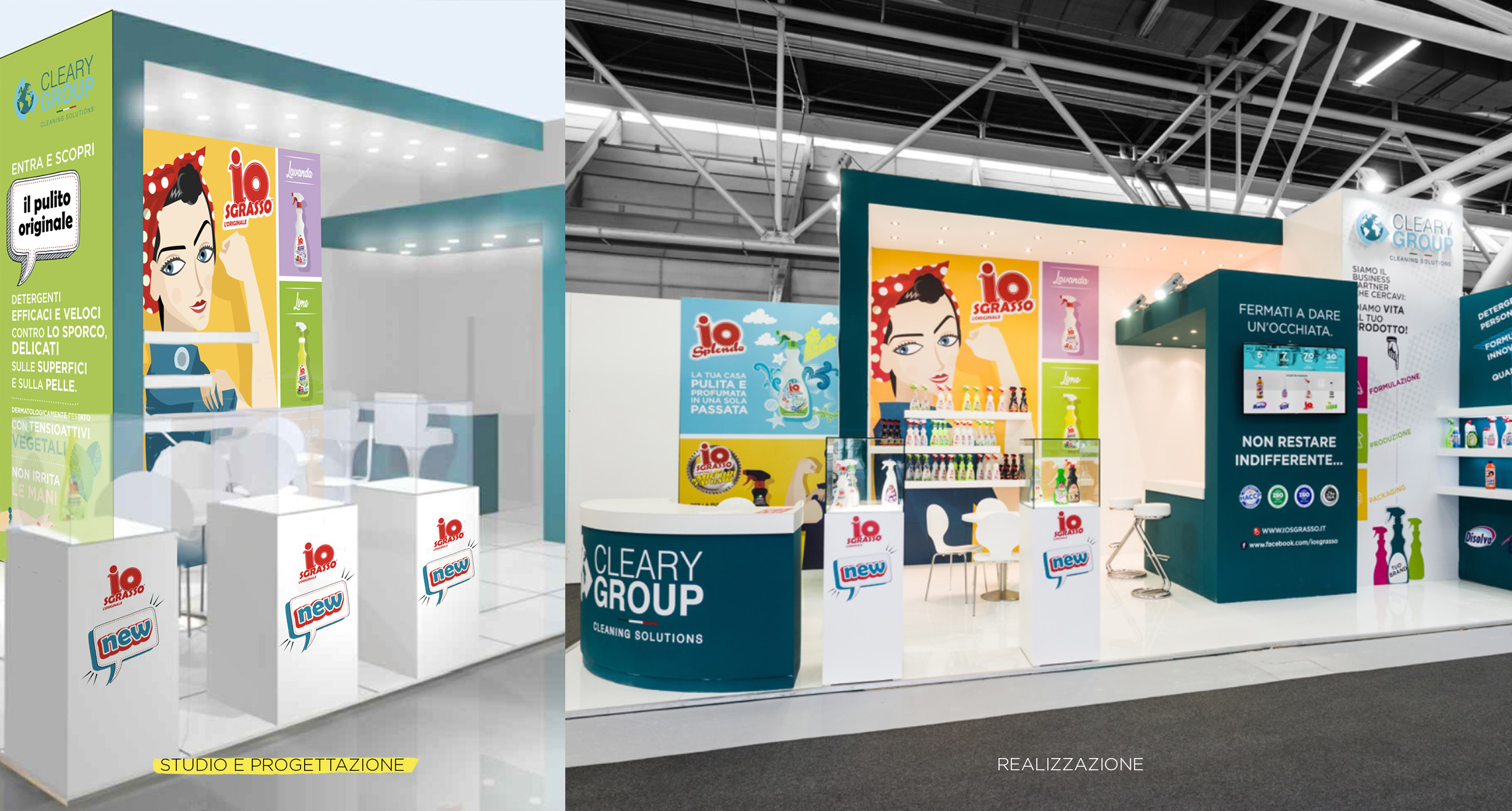 Cleary Group design stand Fiera Marca Bologna